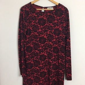 Michael Kors size l red and black holiday dress